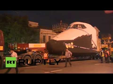 Soviet space shuttle's last journey to Moscow space-race resting place