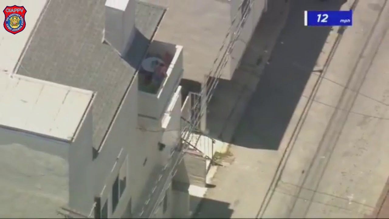 Police Search Santa Monica Neighborhood for Police Chase Suspect - July 9, 2020