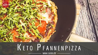 Keto Pfannenpizza mit Käseboden die musst Du nachmachen Low Carb Rezept ohne Mehl