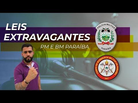 Aula Gratuita - Leis Extravagantes para PM e BM da Paraíba - AO VIVO
