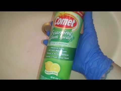 Comet Foaming Bath Spray Review Demo Crazy Cleaner Youtube