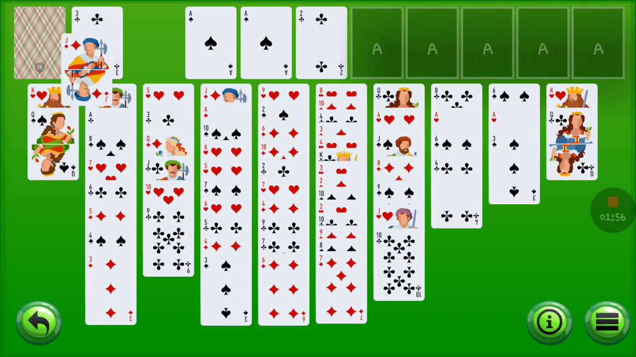 Play forty thieves solitaire game