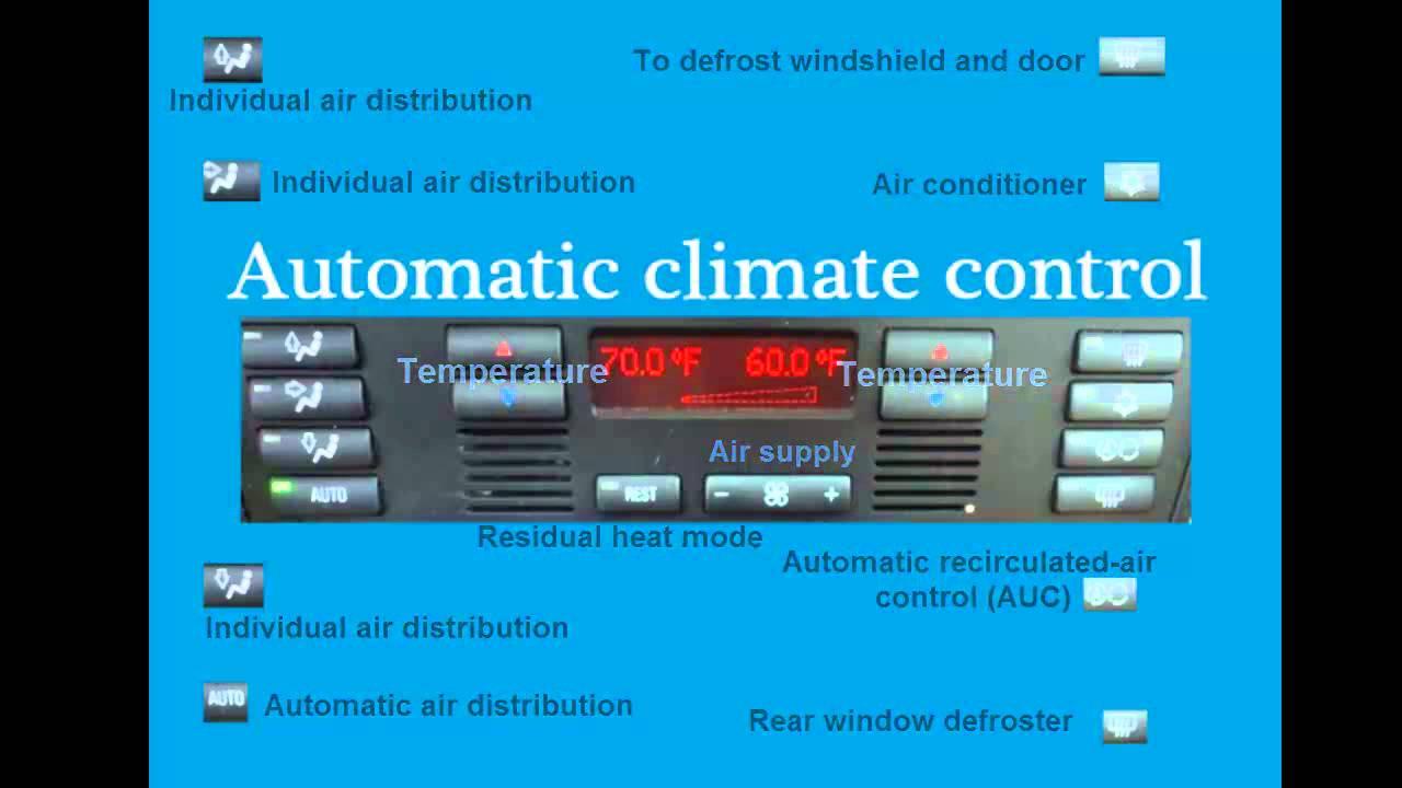 Automatic Climate Control 97 03 Bmw 5 Series E39 528i 525i