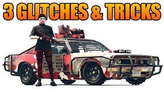 GTA 5 Online - 3 NEW GLITCHES & TRICKS! (Store ANY Vehicle, Drive inside MOC,  & No Cops Glitch)