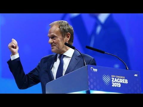 Tusk: de presidente saliente del Consejo Europeo a nuevo presidente de los populares europeos