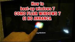 COMO- Arrancar la problema si no quiere empezar con windows 7