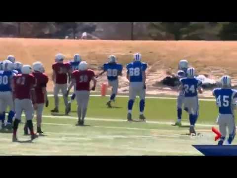 Calgary Midget football action