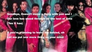 ATLANTIC STARR-SEND FOR ME WITH LYRICS