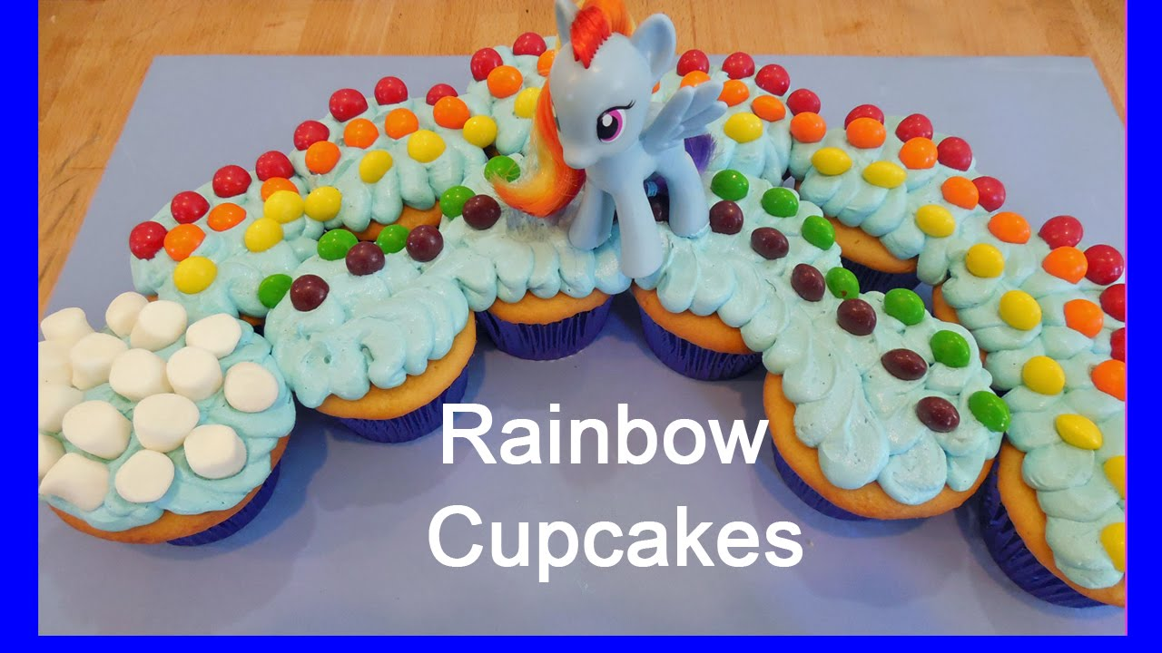 My Little Pony Rainbow Candy Cupcakes