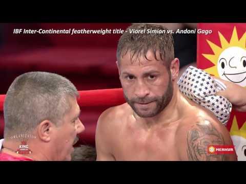 """Gala de Box """"Bombardament in Arena"""" Viorel Simion vs. Andoni Gago Lopez - IBF InterContinental title"""