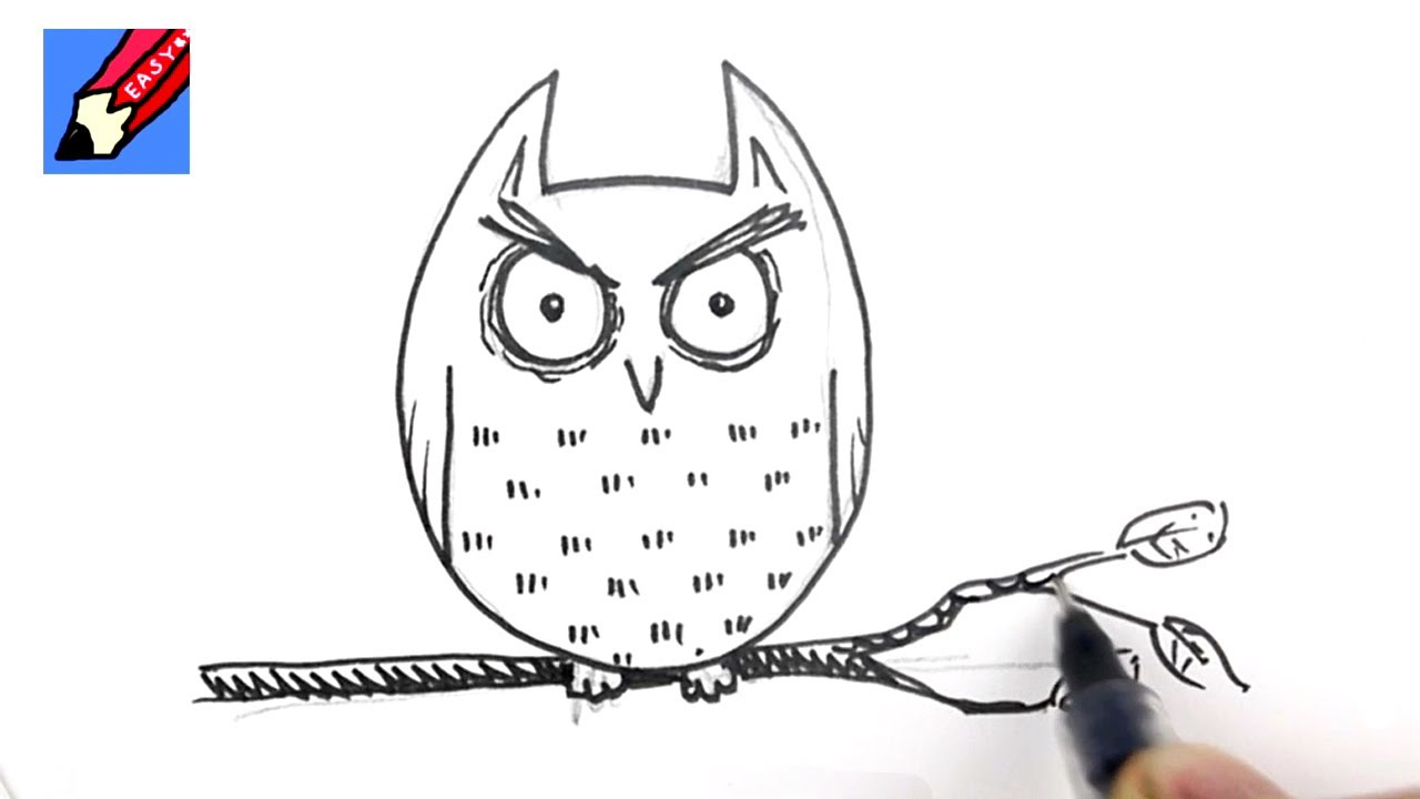how to draw a cartoon owl for halloween youtube
