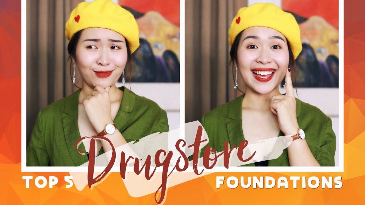 5 kem nền bình dân xuất sắc | BEST DRUGSTORE FOUNDATIONS | Letsplaymakeup