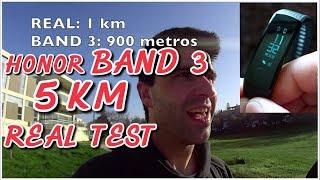Teste PEDÓMETRO vs REAL #1  HONOR BAND 3 5KM RUNNING Smartband Pedometer REAL TEST
