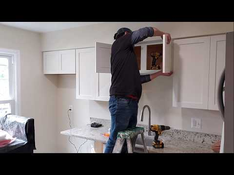 Kitchen Cabinets Refacing. (With New Shaker Style Doors).