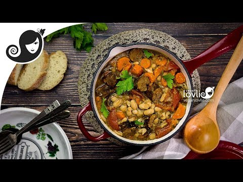Vegan Cassoulet Recipe | French White Bean Stew