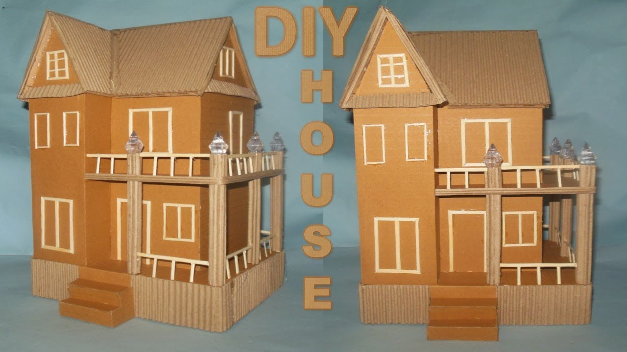 How To Make Cardboard House Diy Crafts Best Out Of Waste Youtube