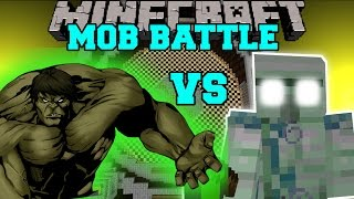 THE HULK VS EMERALD HULK - Minecraft Mob Battles - Mod Battle - Minecraft Mods