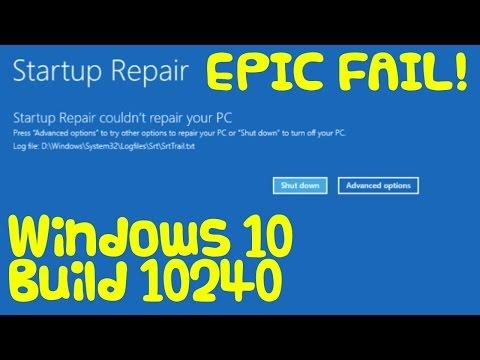 Windows 10 Startup Repair FAIL!