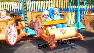 VLOG amusement park in America   roller coaster Baby Video Six Flags Roller Coasters