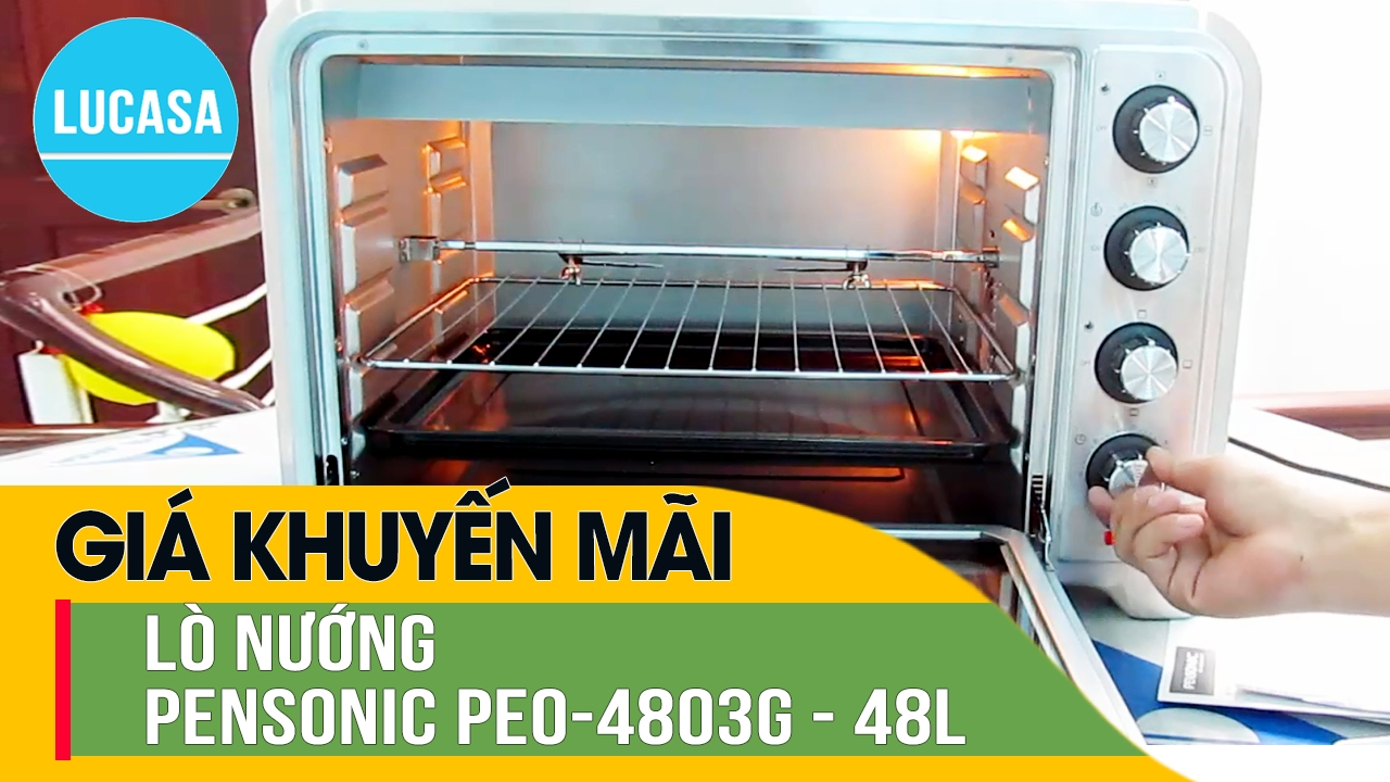 Lò nướng Pensonic PEO-4803G – 48 L – Pensonic Electric Oven PEO-4803G – Review and Unboxing