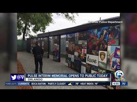 Interim memorial opens for 49 killed at Orlando's Pulse nightclub