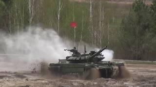 Заезды индивидуальной гонки танковых экипажей в рамках конкурса «Танковый биатлон-2018» АРМИ2018
