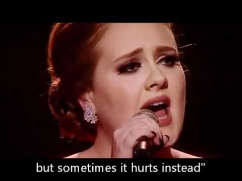 Adele - Someone Like You Official Brits Awards Video with Lyrics