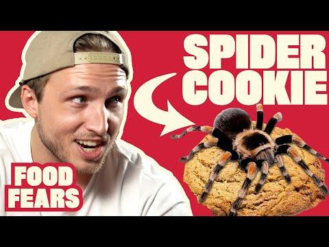 Spider Cookies Taste Test Ft. Shayne Topp | FOOD FEARS
