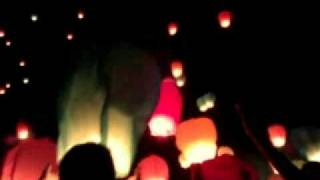 Sky Lanterns on Chinese New Year
