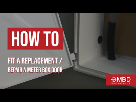 How To Fit A Replacement Repair A Meter Box Door Youtube