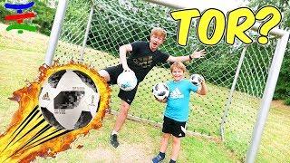 Fußball WM 2018 Wir spielen wie die Profis ⚽️mit original Adidas Telstar 18 ⚽️ TipTapTube