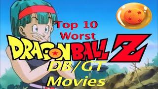 Top 10 SCHLECHTESTE DRAGON BALL Z /DB/Dragonball GT Filme