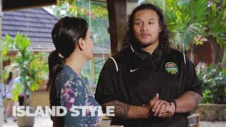 Island Style TV with NFL player Danny Shelton at the Polynesian Football Hall of Fame