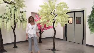 ShopWildThings Dogwood Trees Pink or Ivory Wedding Event Trees