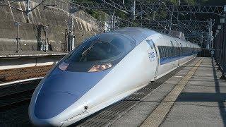 JR西日本 山陽新幹線 新尾道駅 500系 こだま 博多行き 入線 発車 N700系 高速通過 2018 10