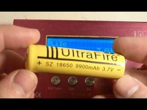 UltraFire 9900mAh 18650 battery real capacity test   тест реальной емкости.