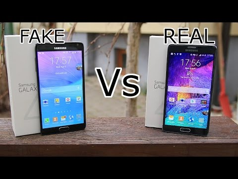 Fake vs Real Samsung Galaxy Note 4 - New Version - Best chinese  1:1 Replica for 150$ ? [HD]