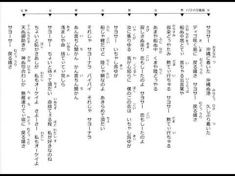 ハワイ行進曲 饒辺勝子 金城実 リクエスト中森愛花 Okinawa Music ...