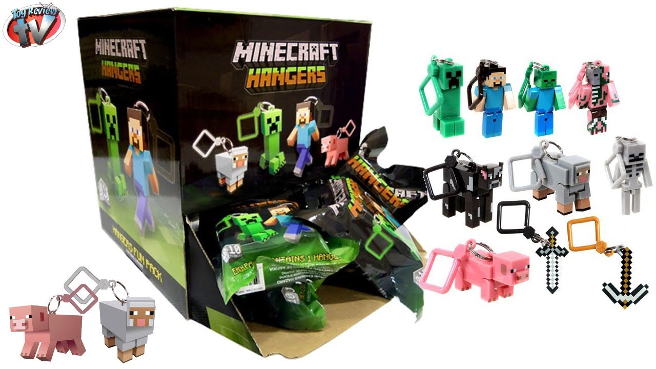 Minecraft Hangers Mystery Surprise Blind Bag Toys Unboxing