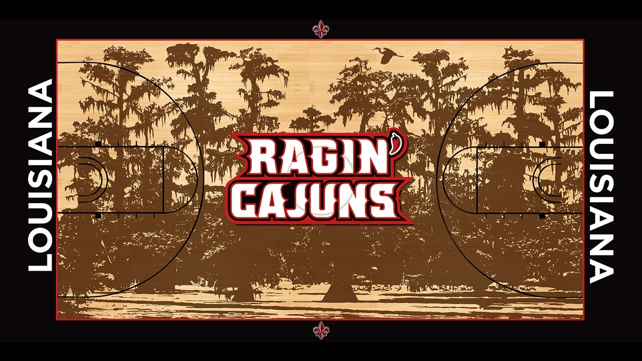 Ragin Cajuns Basketball Court Build Time Lapse Youtube