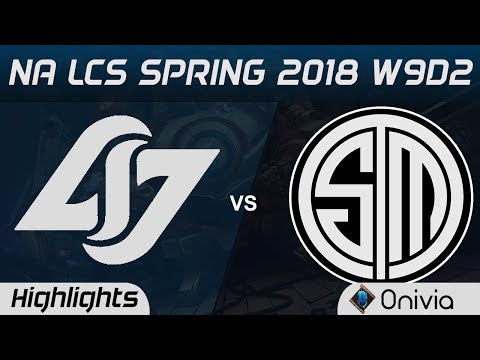 CLG vs TSM Highlights NA LCS Spring 2018 W9D2 Counter Logic Gaming vs Team Solo Mid by Onivia