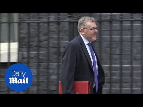 Cabinet members leave Downing Street following meeting with PM