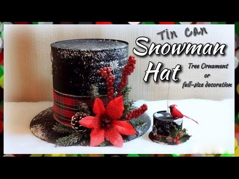 How to make snowman hat with paper