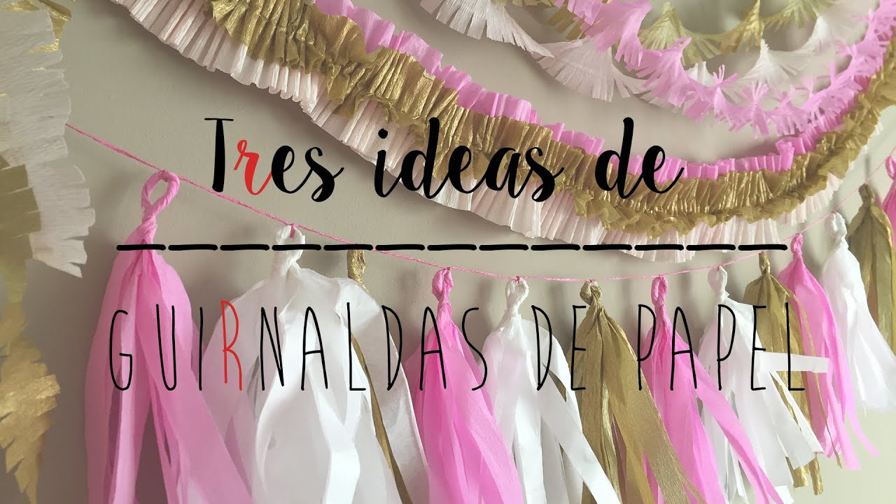 3 ideas de guirnaldas de papel para decorar tus fiestas for Decoracion de guirnaldas