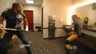 مقطع مضحك من المصارعة تربل اتش