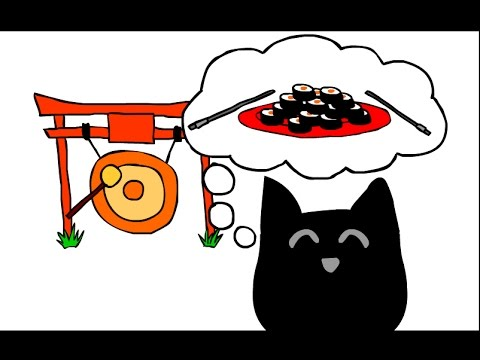 Cat In Japan - Find 20 Sushi - Cool Math Games