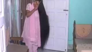 Anita long hair care and flaunting at home