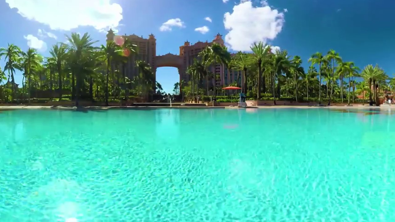 The Sundial Pool At Atlantis, Paradise Island In 360