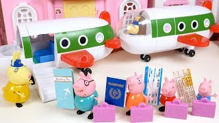 Peppa Pig Family House Airplane Travel Passport Toy Soda