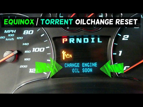 HOW TO RESET CHANGE ENGINE OIL on Chevrolet Equinox Pontiac TORRENT
